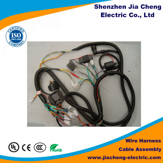 automobile chassis wiring harness automotive connector production