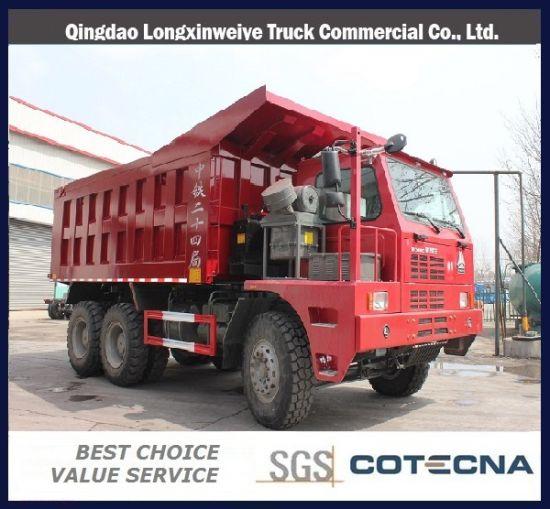 Qingdao HOWO 6X4 60ton 371HP Mining Tipper Truck