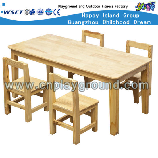 Kindergarten Furnitures Kids Wooden Table And Chair Sets (HC 2401)
