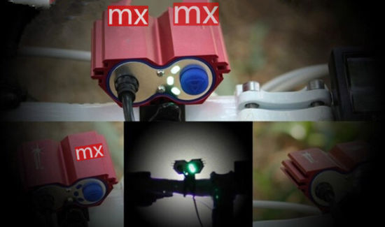 Rechargeable Multifunction Aluminium LED Bike Light (YS-2002)