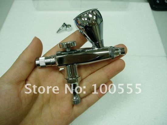 New 0.3mm Single-Action Airbrush Gun Gravity Paint Tattoo (PR-206) pictures & photos