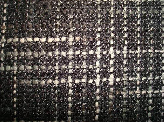 Wool Thick Fancy Yarn Dyed Check Hacci Fabric pictures & photos