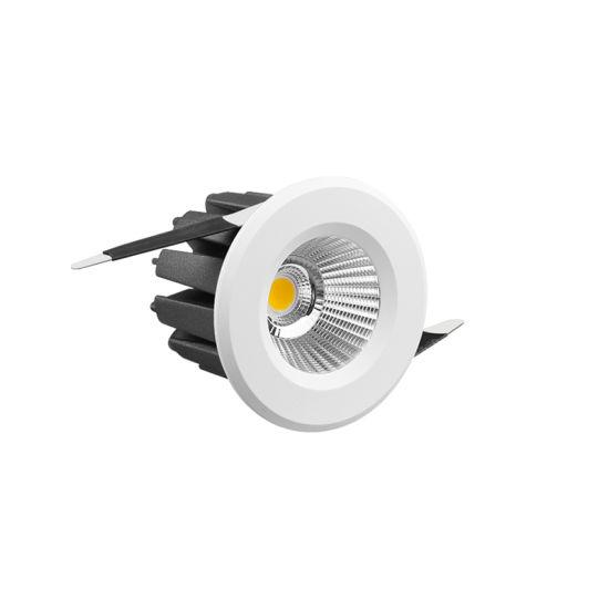 Cutout 60mm Receesed 7W 9W Aluminium COB LED Downlight