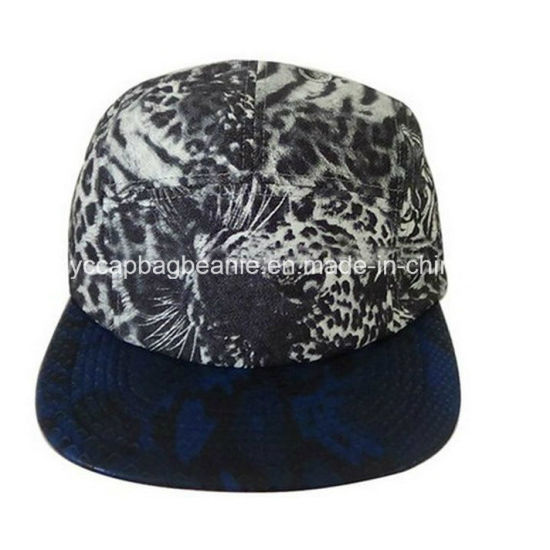 Embroidery 5 Panel Hats Custom Floral Flat Bill Snapback Cap pictures    photos c6db8e1b074