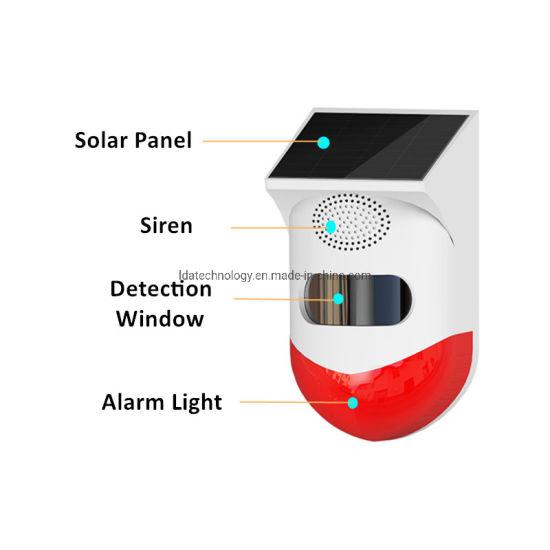 Security Home Safety Outdoor Solar Powered WiFi Tuya Wireless Motion Sensor