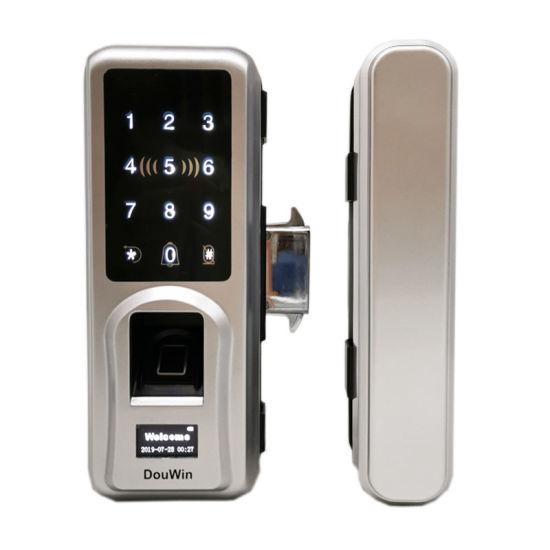Fingerprint RFID Card Digital Sliding Door Lock Glass Doors RFID Card Lock