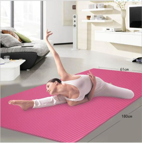 Wholesale Home Gym Fitness Equipment Extra Thick Durable Comfortable Anti-Tear TPE Yoga Mat
