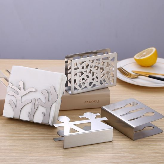 Stainless Steel Napkin Tissue Rack Heavy Duty Napkin Holder