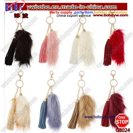Yiwu China Key Holder Buying Agent Rabbit Fur Promotion Keychain Party Gifts (G8024)