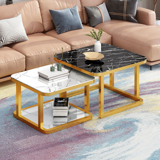 China 2019 Multi Color Style Tempered Glass Top Modern Square