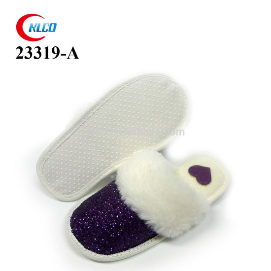 OEM Wholesale Winter High Quality Slippers Girl's Bedroom Glitter Shoes