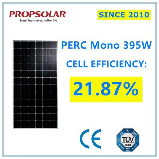 Trustworthy A Grade Perc Photovoltaic Monocrystalline 395W PV Solar Energy Power Panel Modules with Best Price