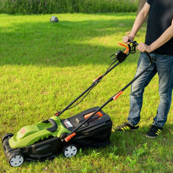 China 1600W Corded Garden Tools 40cm Electric Lawn Mower with Induction  Motor (LM009-A) - China Lawn Mower and Electric Lawn Mower price