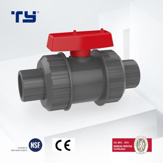 Plastic (UPVC/ CPVC/ PVC/PPR) Pipe Fitting Union Ball Valve with Pn10 Pn16 ASTM Standard