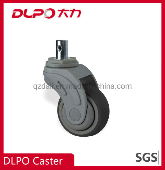 Solid Stem Nylon Fork Swivel Medical TPR Caster