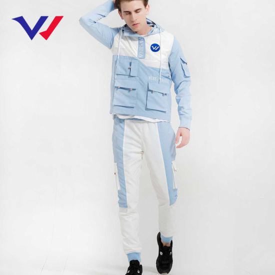 Hot Sale Custom Logo Jogging Suit Mens 100% Polyester Athletic Tracksuit