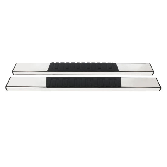 Running Board for 99-18 Silverado Regular Cab 6 Inch Silver Stainless Steel + ABS