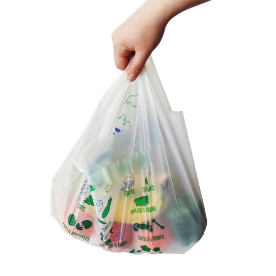 Manufacturer of Biodegradable Shopping Bags Corn Material Trash Bag