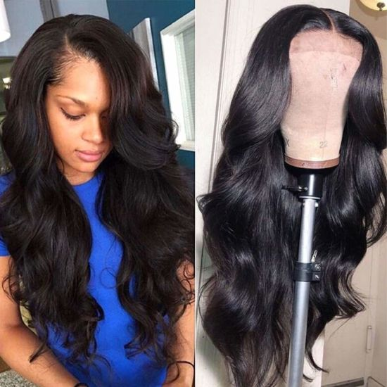 Virgin Hair Wigs 20 Inch Body Wave Human Hair Lace Front Wigs with Baby Hair Pre Plucked 150% Density pictures & photos