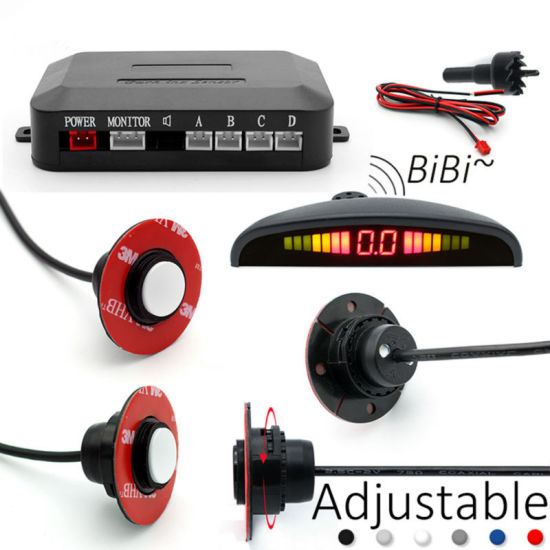 Car LED Parking Sensor 4round Sensors Reverse/Assistance/Backup Radar Monitor System pictures & photos