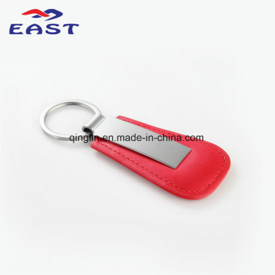 Custom Printed Car Logo Genuine Leather Key Chain pictures & photos