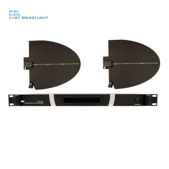 Professional 4CH UHF Pll Wireless Directiona Antenna Amplifier pictures & photos