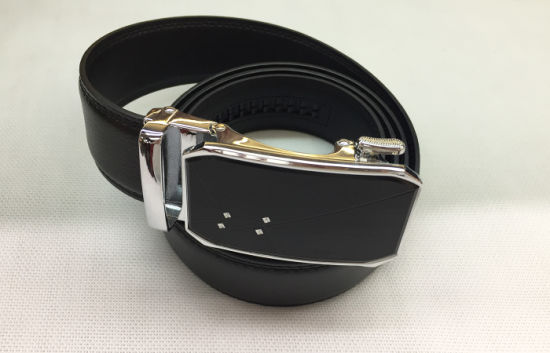 New Fashion Automatic Buckle Genuine Leather Men Belts