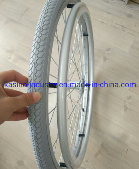 High Quality 24inch Bicycle/Wheelchair/Bike Part Tire with Gray Color 24X1-3/8