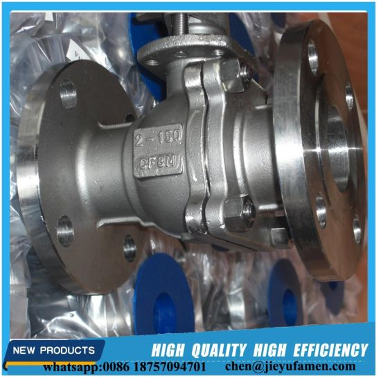 CF8m Stainless Steel Floating Type Ball Valve Lever Operated