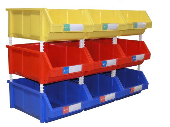 China Stacking Hopper Bin for Warehouse Tool Parts Storage (PK005