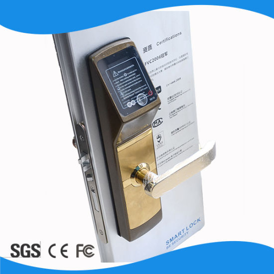 High Identification Speed Biometric Face Recognition Sliding Wooden Door Locks pictures & photos