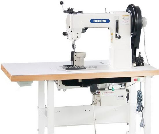 China Triple Feed Post Bed Sewing Machine For Leather Upholstery