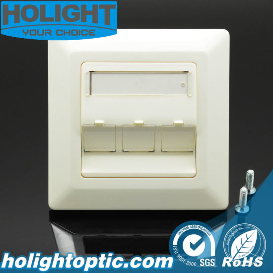 1port/2ports/3ports Fiber Optic Wall Plate 80 Type Network Faceplate
