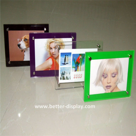 Custom Any Acrylic Standard White/Red/Blue/Black Picture Frame Sizes