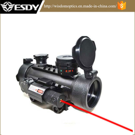 Outdoor Hunting 1X30 Red Green DOT Sight with Red Laser