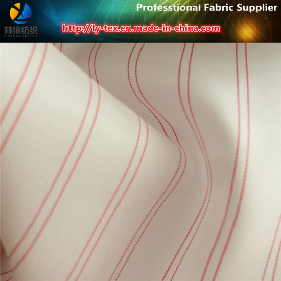 Pink Polyester Yarn Dyed Stripe Fabric for Suit Lining (S103.156) pictures & photos