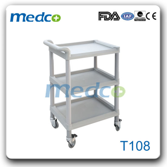 Hospital ABS Treatment Trolley Nursing Cart with Three Layers
