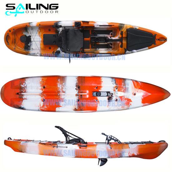 13FT Plastic Fishing Kayak Pedal Propeller Drive Canoe