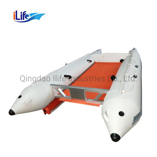 Ilife 14FT Certificate High Quality Catamaran Speed Inflatable Water Recreation Boat