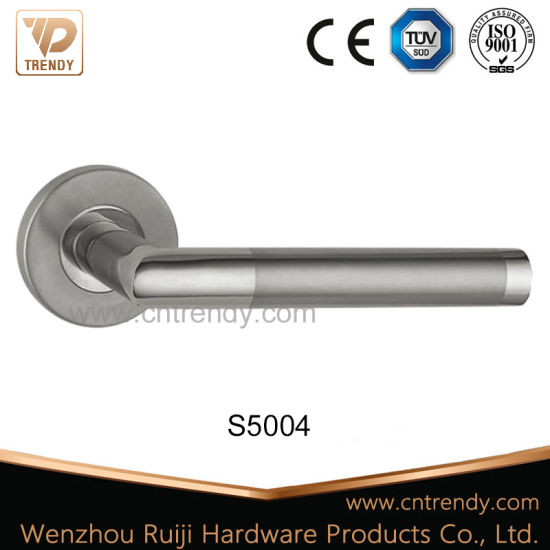 Hollow Stainless Steel Furniture Door Lock Handle on Escutcheon (s5004) pictures & photos