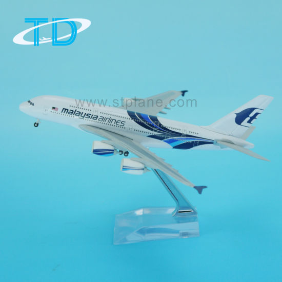 China 1: 400 Scale Diecast Model Plane Airbus A380 - China