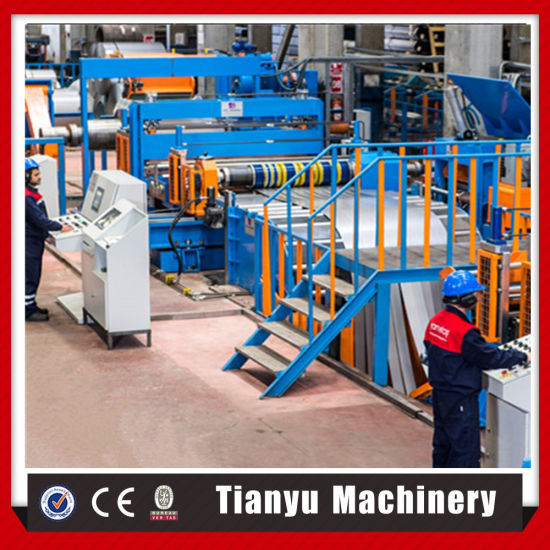 CNC Thin Plate Uncoiling Cut to Length and Slitting Line Machine pictures & photos