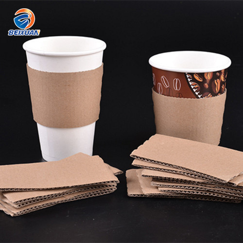 Disposable Coffee Cups Sleeve with Logo