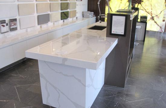 Black Grey White Beige Quartz Stone Kitchen Countertop Bench Top
