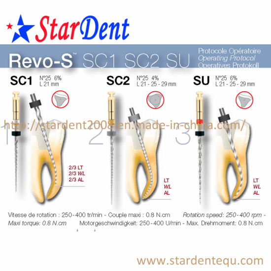 New Dental Revo-S Files (6PCS/box) of Hospital Medical Lab Surgical Diagnostic Equipment pictures & photos