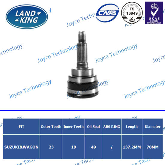 Wholesale Auto Car Parts Online Heated Outer CV Joint for Suzuki