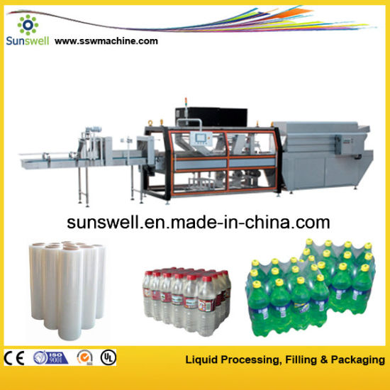 Automatic PE Film Shrink Wrapping Machine for Water Bottles pictures & photos
