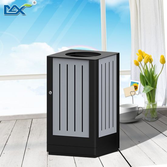 Square Revolving Style Modern Metal Mesh Waste Bin pictures & photos
