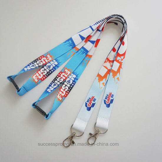 523b7959e19 Promotional Custom Polyester Lanyards with Security Buckle pictures   photos