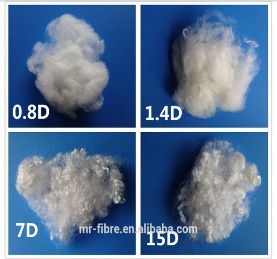 Solid Polyester Staple Fiber- White pictures & photos